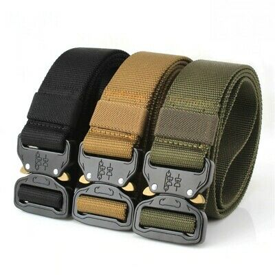 Men Army Combat Waistband Rescue Rigger Belts Adjustable Military Tactical Belt