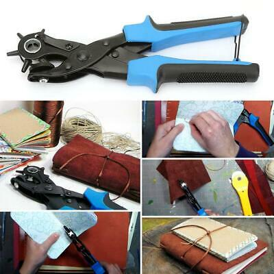 6 Size Leather Belt Eyelet Hole Punch Pliers Strap Watch Band Revolving Puncher