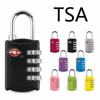 TSA Security 4 Digit Combination Travel Suitcase Luggage Bag Code Lock Padlock