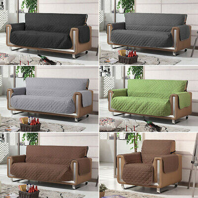 NEW Quilted Water Repellent Couch Cover Pets Dog Sofa Protector 1/2/3 Seater