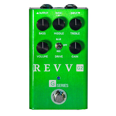 Revv G2 Dynamic Overdrive Guitar Effects Pedal