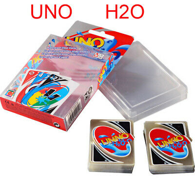 New Waterproof UNO H2O Game Playing Card For Family Friends Party Fun