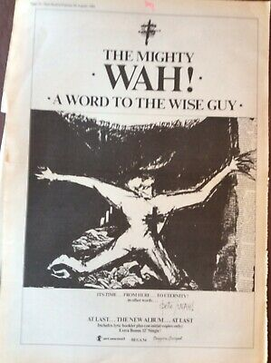 B8b Ephemera 1984 Folded Advert The Mighty Wah A Word To The Wise Guy