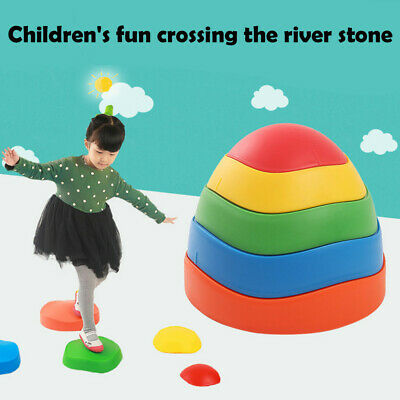 Early Childhood Education Balance Toy Wave Rainbow Crossing River Stone