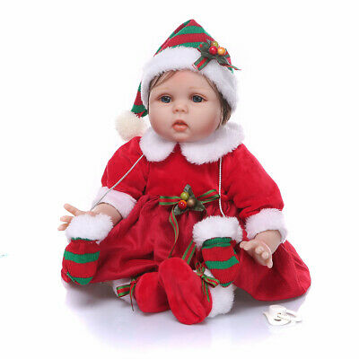 """Reborn Dolls 22"""" Realistic Soft Silicone Vinyl Handmade Holiday Gift Toddler Toy"""
