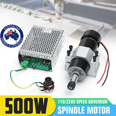 AU CNC 500W Air Cooling Spindle Motor + 52mm Clamps + Speed Governor ER11