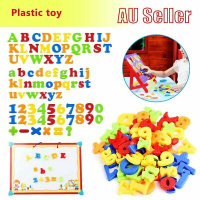 78PCS Magnetic Numbers Letters Alphabet Learning Toy Fridge Magnets Xmas gift EA