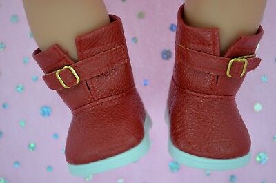 """Dolls Shoes For 17""""Baby Born~18""""American Girl  RED WINTER BOOTS"""
