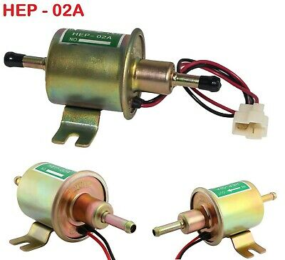 12V Heavy Duty Electric Fuel Pump Low Pressure Inline Petrol Diesel HEP-02A New