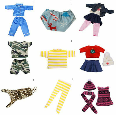 Cute Doll Clothes Underwear Pants Pajama Dress For 18 inch Girl Toy Y6W3