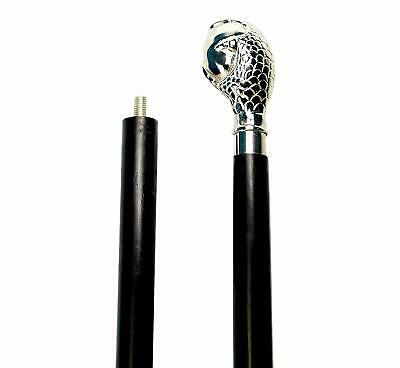 Decorative Cane/Walking Stick Premium Quality Rare Prop with Nickel Plated Brass