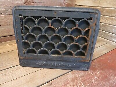Vintage Antique Cast Iron Victorian Heat Register Cover Ornate Grate Vent