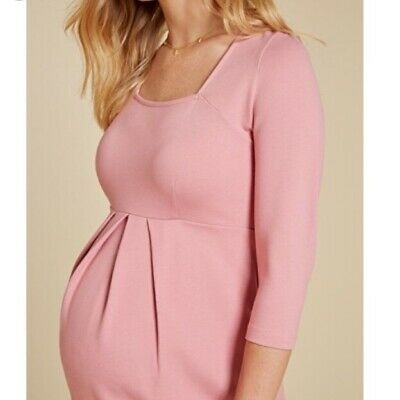 Isabella Oliver soft pink maternity dress US 10