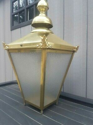 Large Brass Victorian Style Wall Lamp/light/lantern House Outdoor Garden