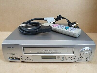 Sharp VC-MH704HM VHS VCR Video Cassette Recorder 6-Head With Remote & Scart Lead