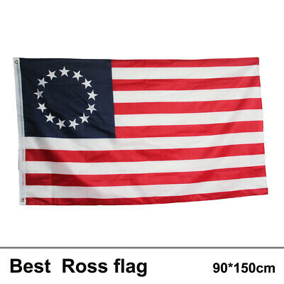 3*5 Ft Betsy Ross USA American 13 Star Flag Indoor Outdoor Home Decor