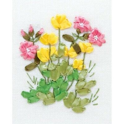Buttercups And Lungwort Ribbon Embroidery Kit C-0940 By Panna