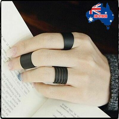 3pcs Black Boho Stack Plain Above Knuckle Ring Midi Finger Rings Set Gift