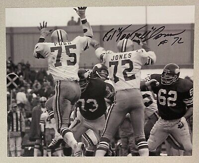 "Ed ""Too Tall"" Jones signed DALLAS COWBOYS 8 X 10 photo  NICE!!!"
