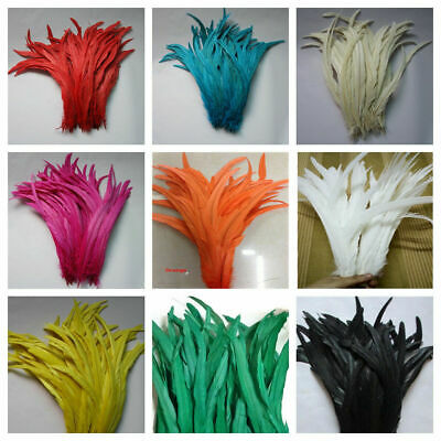 ROOSTER Tail COQUE Feathers 6-10 Inches MANY Colors; Halloween/Costume/Craft