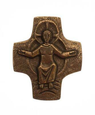 Solid Bronze Christ of the Parousia Cross