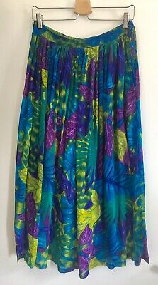 RARE VINTAGE 70s PHOOL INDIAN GAUZE COTTON SKIRT UK10-12 HIPPIE / BOHO EXC.COND