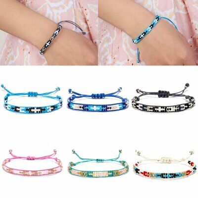 Handmade Multicolor String Beads Woven Braided Friendship Bracelets Jewelry Gift