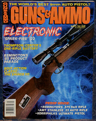 MAGAZINE GUN WORLD December 1985 UNIQUE Model F-11  22 Rimfire
