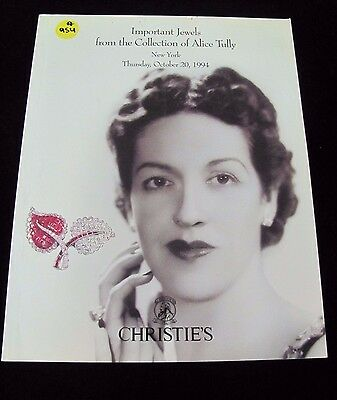 +A954 Christie's Important Jewel Collection Of Alice Tully Ny Oct.20 1994