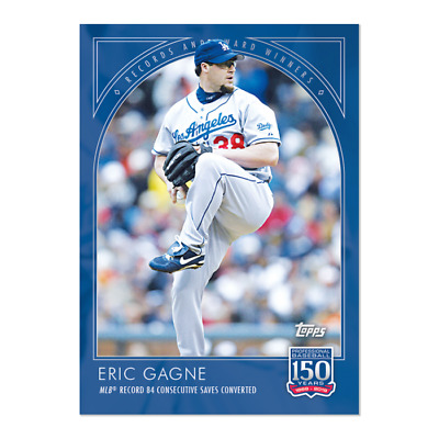 2019 Topps 150 Years of Baseball #55 Eric Gagne Los Angeles Dodgers