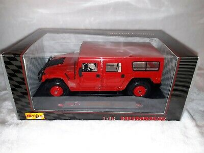Maisto Hummer ( Station Wagon )1:18 Scale Diecast Red Model SUV NIB # 31858