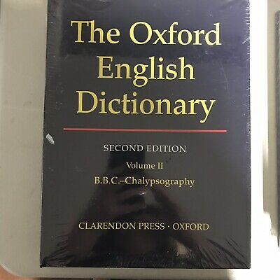 The Oxford English Dictionary Second Edition - Volume II (2) Two