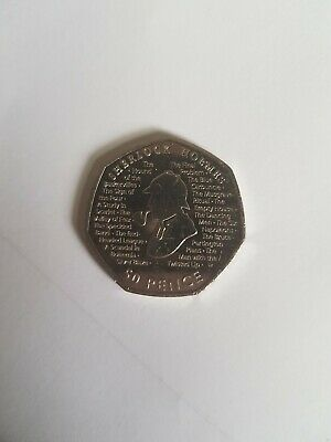 Sherlock Holmes 2019 50p Fifty Pence Coin Rare Collectible FAST FREE POSTAGE