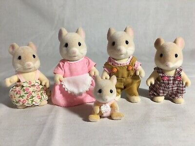 Calico Critters/sylvanian Families Hamilton Hamster Family  Of 5