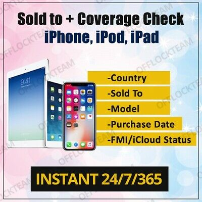 Apple Full Gsx Report Wifi Mac Address + Iccid Check Service Instant 24/7/365