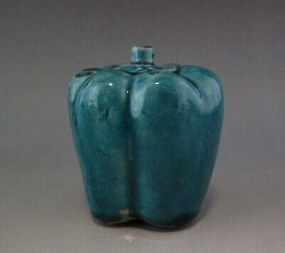 Chinese Old Porcelain Green Glaze Chili Water Dropper