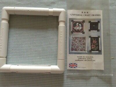 "R&R universal craft frame, 9""/23cm square, suitable X-stitch, embroidery, quilt"