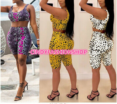 USA Women Three  Piece Print Bra+Knee Length Pants and Scarf  Outfit Sport JS3