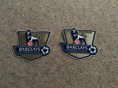 Premier League Gold Badges 2011/12 Champions EPL Barclays Adult Shirt Sleeves