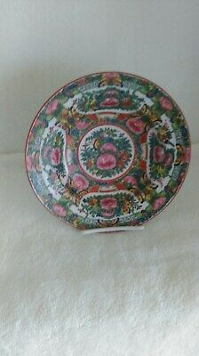 Antique Chinese Export Rose Medallion 2 Soup Bowl  1920 China