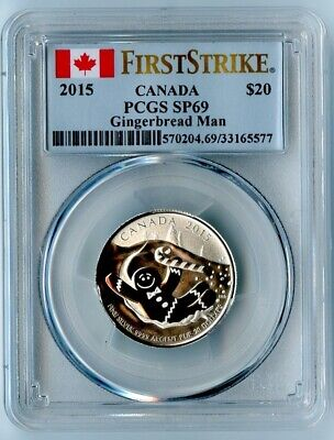 2015 Canada Ngc First Strike Sp69 Silver Gingerbread Man S$20! None On E-Bay!