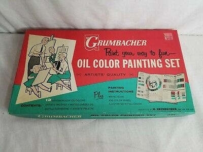 "Vintage GRUMBACHER: ""OIL COLOR PAINTING SET"" - complete"