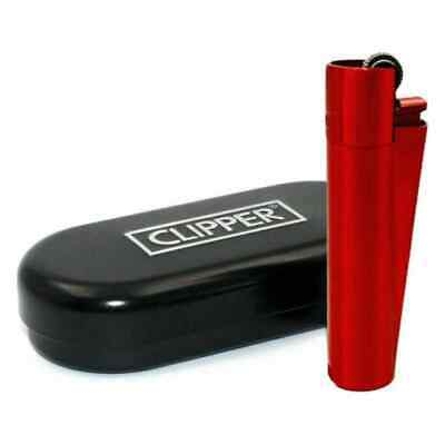 CLIPPER METAL RED DEVILS LIGHTER WITH Gift Tin LIMITED EDITION NEW!