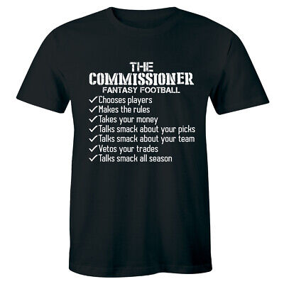 Fantasy Football Draft Shirt 2019 Commissioner Tee Funny Game Sports Mens Tshirt