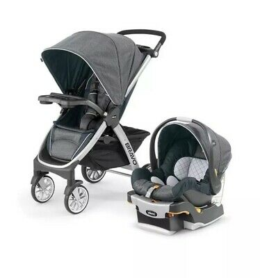 Chicco Bravo Trio 3-in-1 Baby Travel System Stroller w KeyFit 30 Car Seat Poetic