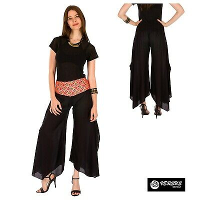 Pantaloni Etnici Donna Larghi con Ricami Woman Ethnic Wide Trousers AVPIP0026