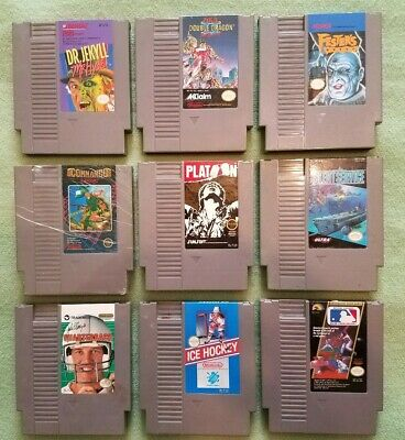 Nintendo NES Game Lot of 9 Cartridges nice clean working free shipping Dr Jekyll