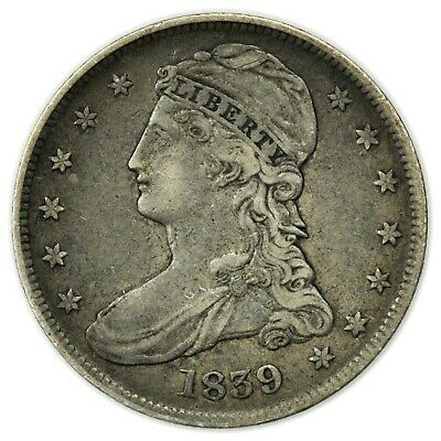 1839 Capped Bust Half Dollar, Silver, Nice, Early Type Coin [4159.40]