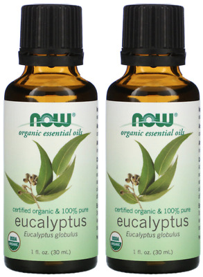 Now Foods, Organic Essential Oils, Eucalyptus, 1 fl oz (30 ml), 2 Packs