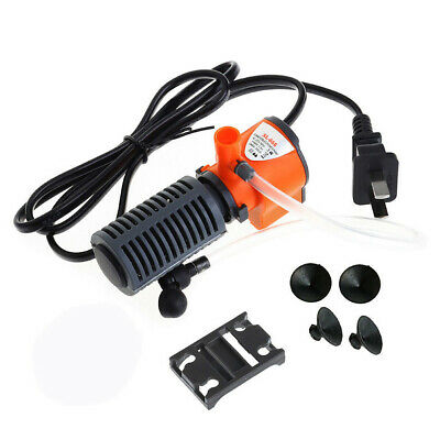 3-in-1 Small Aquarium Internal Filter Oxygen Submersible Pump For Fish Tank 1Pc